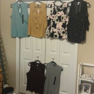 6 Shirts NWT, XL, Various Brands